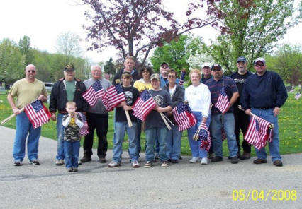 Orrville American Legion Post 282 - Flags on Graves May 2008